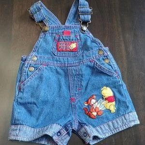 Disney Baby Baby Pooh Denim Overalls
